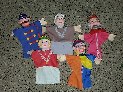 $21.99 • Buy Vintage Punch Judy Hand Puppets Mr Rogers Neighborhood Characters Set 5. Jester