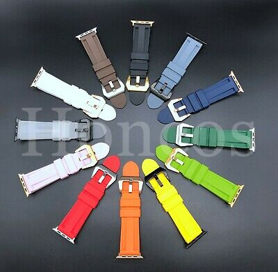 $ CDN21.29 • Buy Silicone Band Strap For Apple Watch 1/2/3/4/5 IWatch Sports Series 38/42/40/44mm