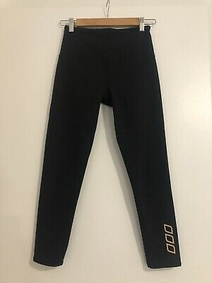 AU45 • Buy Lorna Jane Black Golden Core Ankle High Waist Flattering Tights Small