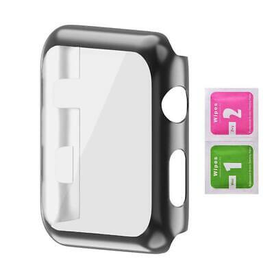 AU4.09 • Buy Tempered Glass Screen Protector Case Watch Frame For Apple Watch Series 4/3/2/1