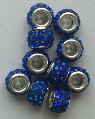 Spacer Beads Crystal 10mm, 5mm Hole Pack Of 10 • 0.99£
