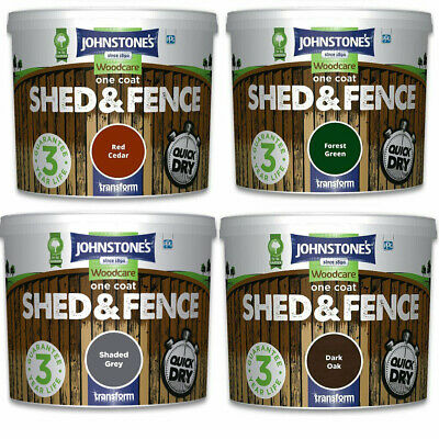 Johnstones Woodcare One Coat Garden Shed And Fence Wood Paint 5L 9L Quick Dry • 19.95£