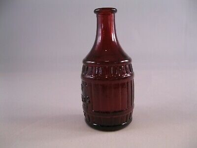 $0.99 • Buy Vintage Root Bitters Wheaton Glass Bottle Ruby Red 3 Inches