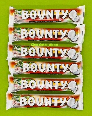 6 X 57g Bounty Dark Chocolate Coconut Twin Duo Bars Vegetarians Gift Hamper Box • 7.49£