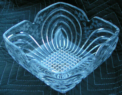$9.99 • Buy Godinger Shannon(???)  Crystal Etched Square Bowl