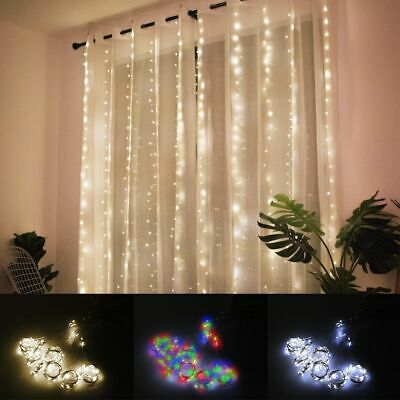 $11.39 • Buy 300LED String Fairy Lights Outdoor Indoor Yard Curtain Wedding Party Xmas Decor