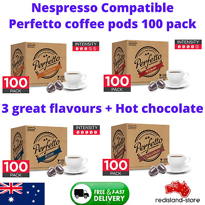 AU74.92 • Buy 100 X Nespresso Compatible Coffee Or Hot Chocolate Pods Capsules Roast Espresso