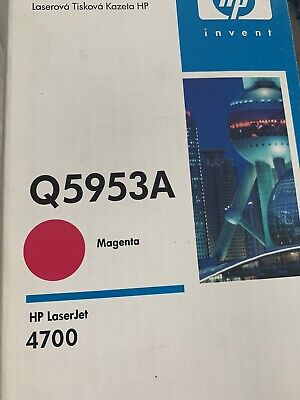 HP Genuine Q5953A Magenta Toner Cartridge Laserjet 4700 Colorsphere Sealed New • 41.07£