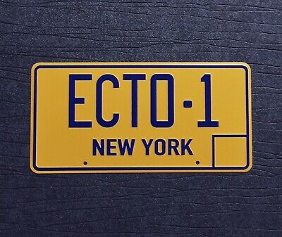 Ghostbusters ECTO-1 New York Replica Prop License Plate 300mm X 150mm • 12.99£