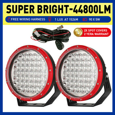 AU115.98 • Buy RED Pair 9inch OSRAM LED Driving Spot Lights Combo Beam Black Truck Offroad Work
