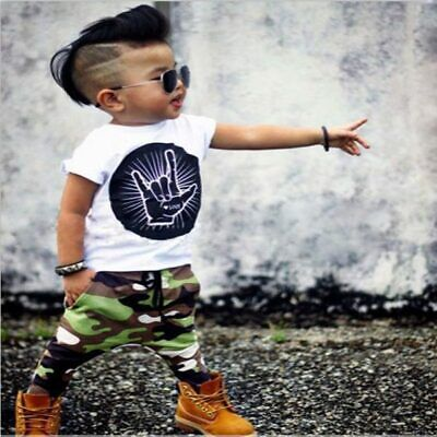 AU10 • Buy NEW Baby Toddler Boys Girls Clothing Rock Love Set