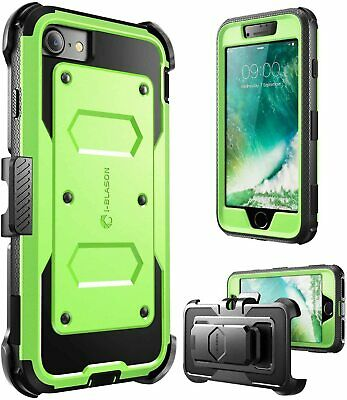 I-Blason For IPhone SE 2nd Gen 2020 / IPhone 7/8 Shockproof Holster Case +Screen • 16.99£