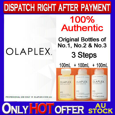 AU388 • Buy OLAPLEX No's 1, 2 & 3 FULL Kit NEW & Sealed FREE Post Original NOT Rebottled