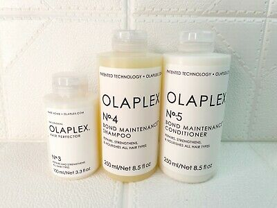 AU135 • Buy OLAPLEX Take Home Treatment 100mL No.3 + 250mL No.4 + 250mL No.5 Original