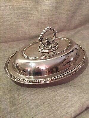 ANTIQUE Silver Plated 1908 ENTREE/SERVING DISHES With REMOVEABLE HANDLE • 45£