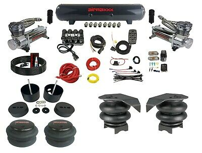 $1425 • Buy Complete Air Ride Suspension Kit Chevy 99-06 1500 Manifold Valve Bags 480 Chrome