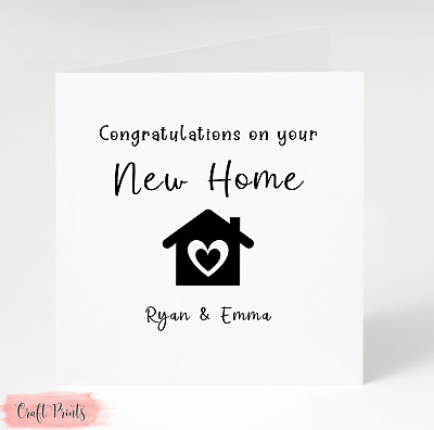 Handmade Personalised New Home House Card  • 3£