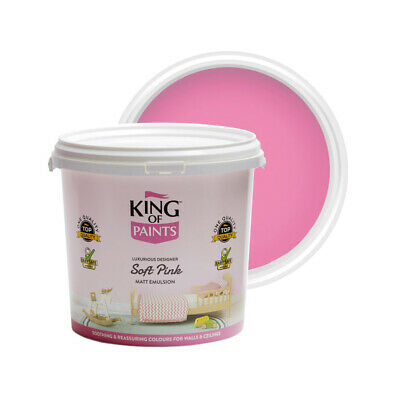 Pink Paint Matt Emulsion For Walls & Ceilings Lowest VOC 5 Litres  • 26£
