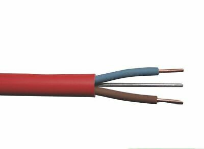 FP200 Gold 1.5mm 2 Core & Earth Red Fire Alarm Cable - Brand New - Per Metre • 3.95£