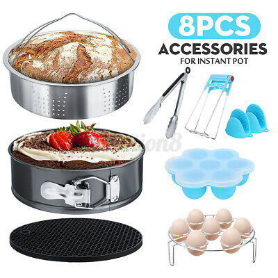 $22.94 • Buy 8Pcs Accessories For Pot Non-stick Springform Pan Steamer Basket Stainless Steel