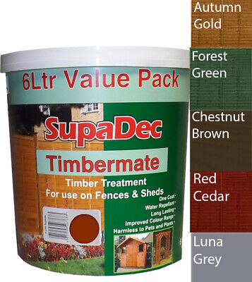 Garden Shed And Fence Exterior Wood Paint Supadec One Coat More Colours 6L Dry • 16.95£