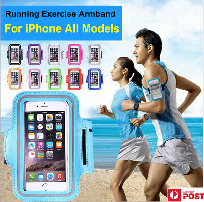 AU6.89 • Buy Running Armband Case For IPhone 5 6 7 8 Plus X XR XS MAX 11 Pro MAX Sports Gym