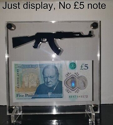 £15 • Buy £5 Or £10 AK 47 Bank Note Display Acrylic Stand (No £5 Note Included)