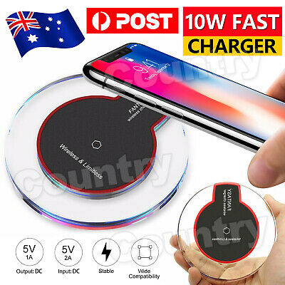 AU5.95 • Buy Wireless Charger Charging For APPLE IPhone11 Pro Max XS XR Samsung S20 S10 9