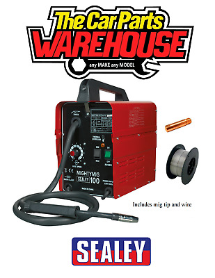 £142.49 • Buy SEALEY MIGHTYMIG100 100Amp No Gas / Gasless Mighty Mig Welder + Flux Wire Kit.