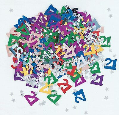 14g 21st Multi Coloured Table Scatters Confetti Adults 21 Birthday Party Decor • 2.19£