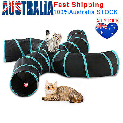 AU27.39 • Buy Pet Cat Kitten Puppy Tunnel Play Toy 5 WAY Foldable Exercise Tunnel Funny Toys