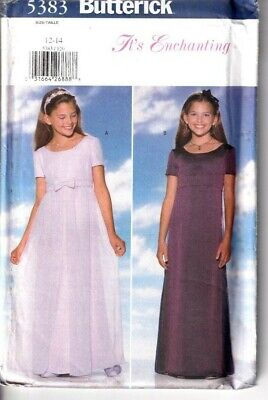 Butterick Sewing Pattern Girls Dress Bridesmaid Occasion Formal Age 12-14 5383 • 8.95£
