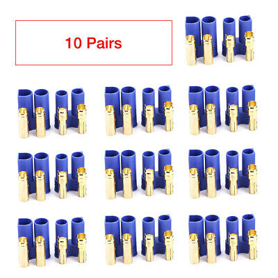 $8.99 • Buy 10 Pairs EC5 Device Connector Plug Male & Female For RC Car Plane Lipo Battery