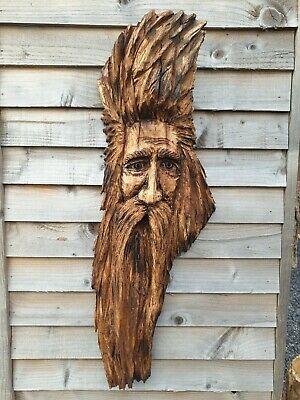 Chainsaw Carved Green Man / Wood Spirit • 130£