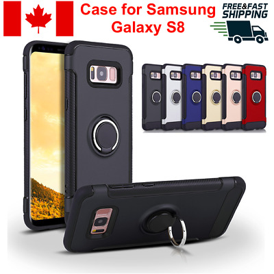 $ CDN6.95 • Buy For Samsung Galaxy S8 Case Cover Ring Stand Kickstand Magnetic Rugged Shockproof