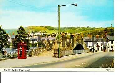 The Old Bridge Pontypridd Vintage Postcard T06 • 5£