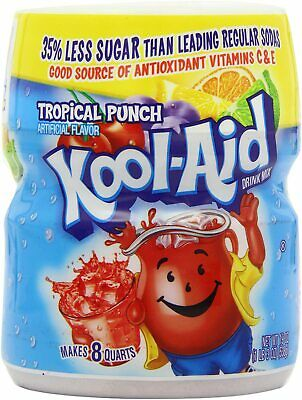 Kool Aid Tropical Punch Tub 538g (Pack Of 2) American Candy • 19.50£