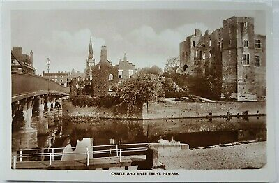 £3 • Buy Castle And River Trent, Newark. Real Photo. Postcard.