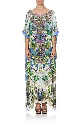 AU349.95 • Buy NEW Camilla Franks Moon Garden Round Neck Kaftan Dress Silk Multi One Size