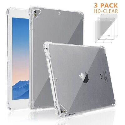 AU26.99 • Buy For IPad Air 1 2 3, Mini 4 5 Shockproof Transparent Clear TPU Case + 3x HD Films