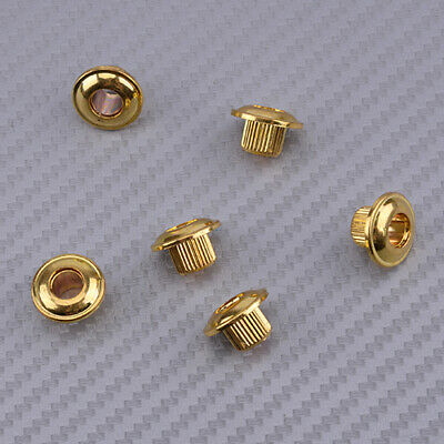 $ CDN8.40 • Buy 6xGold 10mm Key Conversion Bushing Adapter Ferrules Fit Vintage Guitar Tuner Use