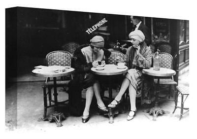 £18.50 • Buy Art Deco Vintage Paris Street Cafe Scene Canvas Print Wall Art. Picture Framed