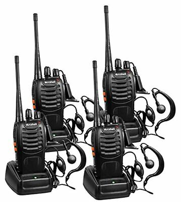 $ CDN71.14 • Buy Long Range Walkie Talkie 4 Set 5 Mile 2 Way Radio Charge Headset Waterproof UHF