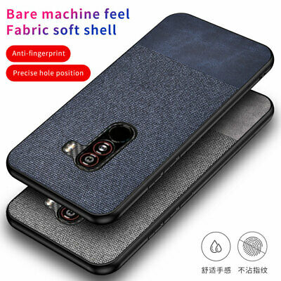 $ CDN6.33 • Buy For Xiaomi Pocophone F1 Hybrid Fabric Canvas Cloth Leather TPU Bumper Case Cover