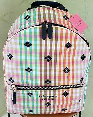 $ CDN217.44 • Buy Kate Spade Bella Plaid City Large Backpack:nwt Bella Plaid Backpack