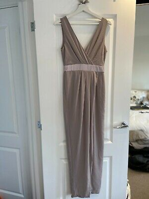 TFNC Womens Mink Bridesmaid Dress With Ribbon Bow Back Detail Size 8 & 10 • 29.99£