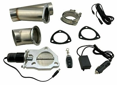 $158.88 • Buy 2.5  Electric Exhaust Cutout V Band Dump Bypass Valve W/ Wireless Remote Control