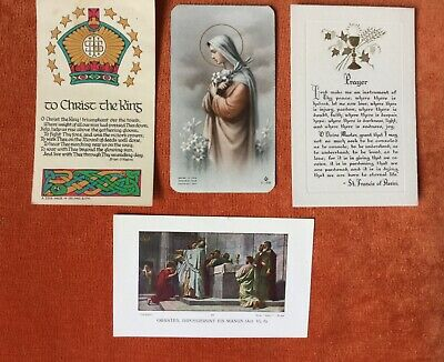 Very Rare 1940s Catholic Prayer Remembrance Holy Cards. Mass.  • 5.99£