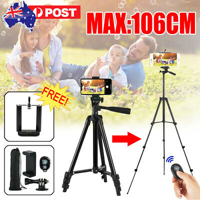 AU19.94 • Buy Professional Camera Tripod Stand Mount Remote + Phone Holder For IPhone Samsung