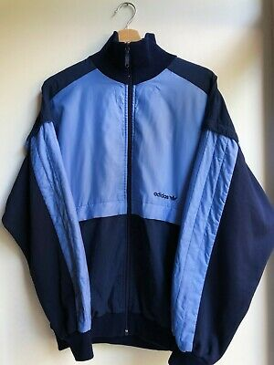 Vintage RARE 70s 80s Adidas West Germany Track Top Jacket Medium Blue  • 53£